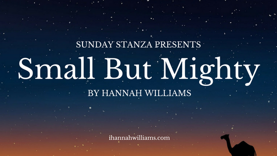 Sunday Stanza: Poem Eight-Small But Mighty By Hannah Williams