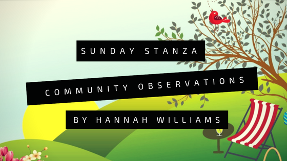 Sunday Stanza: Poem Sixteen– Community Observations By Hannah Williams