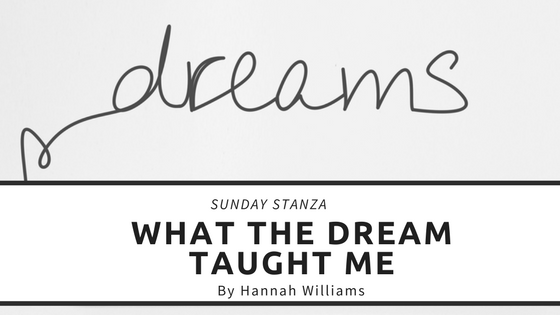 Sunday Stanza: Poem Twenty- What The Dream Taught Me By Hannah Williams