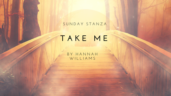 Sunday Stanza: Poem Twenty Five- Take Me By Hannah Williams